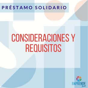 Requisitos y Consideraciones del Préstamo Solidario - Ley N° 21.323.