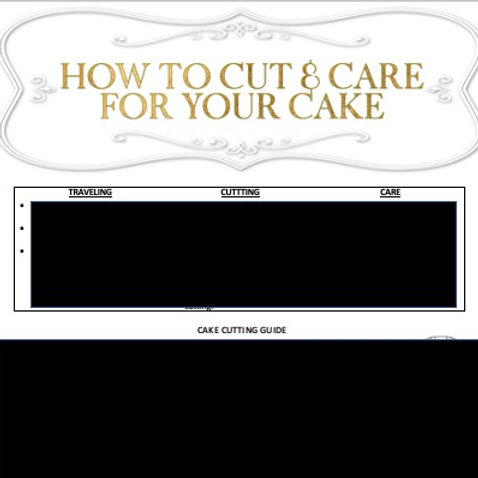 TRAVEL, CUTTING AND CARE GUIDE (Instant Download)