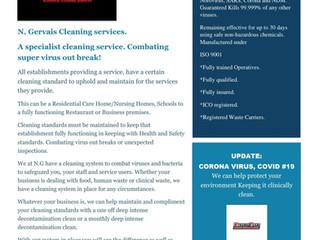 Coronavirus bio-fogging decontamination clean.