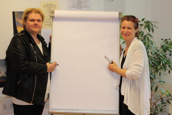 In Vorbereitung für unsere Schulungen mit Geschäftsführerin Valerie Clarke, Inclusion24