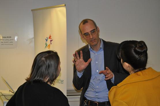 Diskussion mit Prof. Dr. Rüsch, Uni Ulm, Public Health