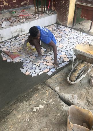 Laying Mosaic Tile