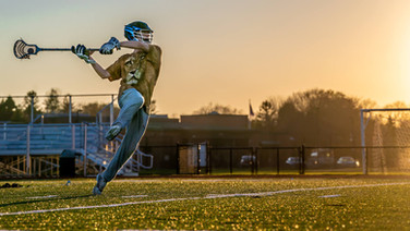 Sunset Lacrosse Player