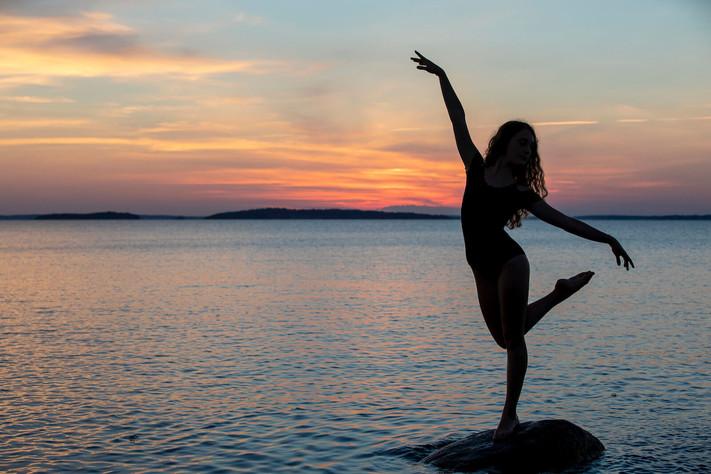 Ballerina sunset