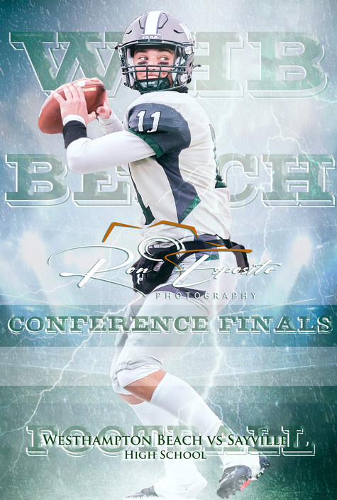 Westhampton Beach vs Sayville High School Football Conference Finals Poster