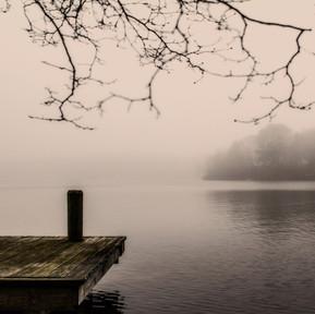 Foggy day on Big Fresh Pond