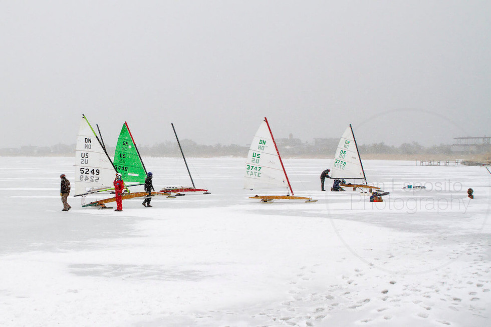 Ice Sailing on Mecox Bay