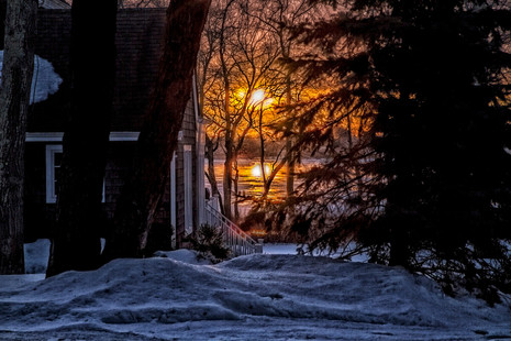 Mill Pond Winter Sunrise