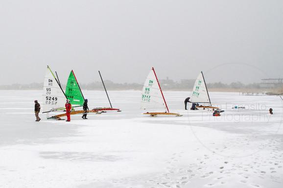 Ice Sailing on Mecox Bay, Southampton, N.Y.