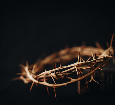 The crown of thorns of Jesus upon holy