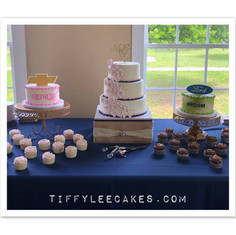 Wedding with bride-groom cakes.jpg
