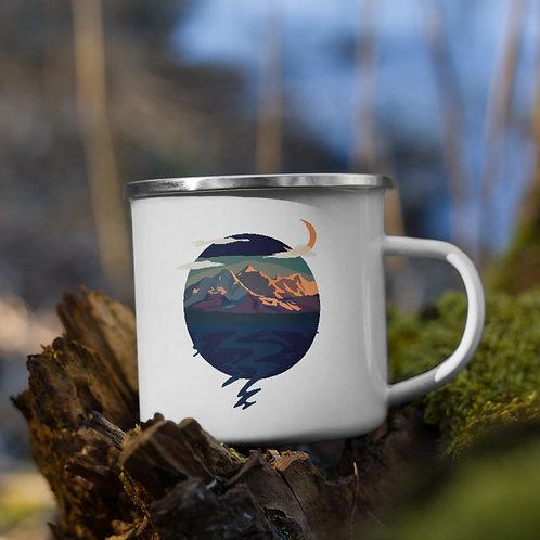 Twin Sisters Enamel Camping Mug