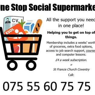 where for just £4 a week you get loads of groceries AND support