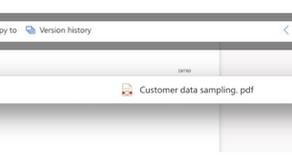 Nouvelle barre pour OneDrive.
