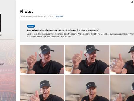 """Du nouveau dans l'application """"Votre téléphone"""" de Windows 10."""