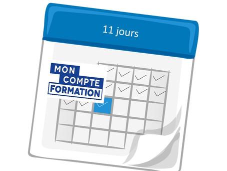 Inscrivez-vous 2 semaines à l'avance avec votre compte CPF