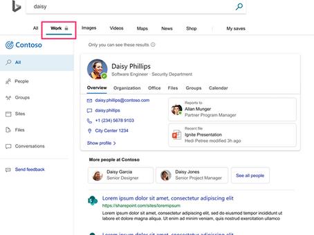 Mise à jour des résultats de recherche dans Microsoft 365
