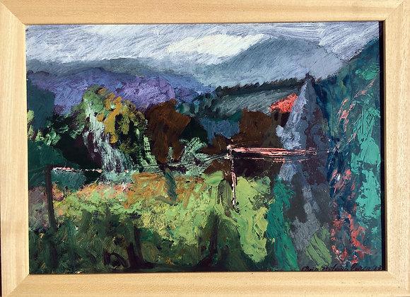 Peisaj Macedonia - pictura Maia Stefana Oprea
