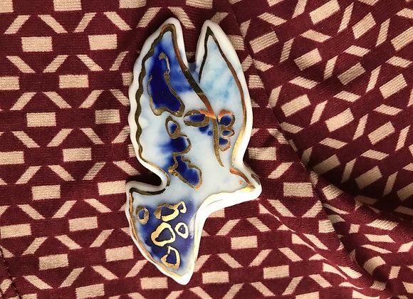 Paloma - brosa ceramica unicat
