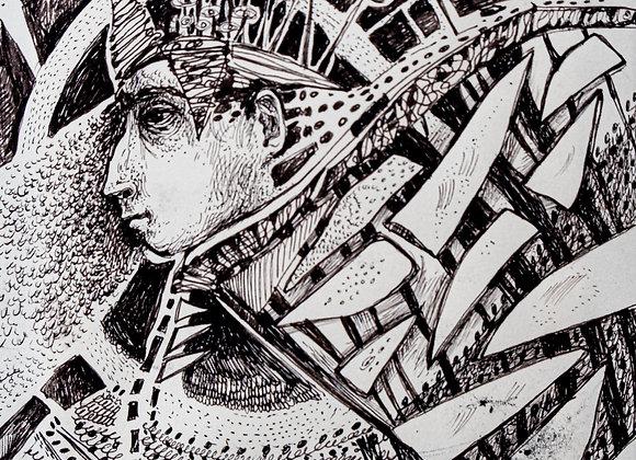 Zeul Vanatorii - ilustratie - Smaranda Isar