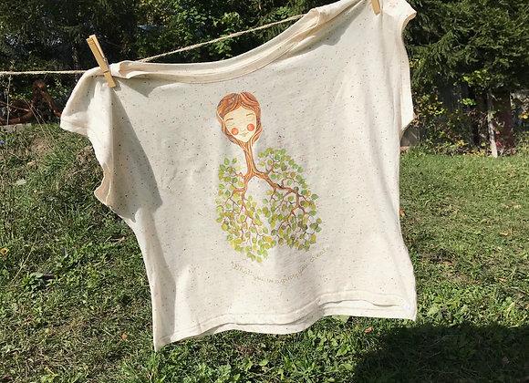 "tricou ""fata arbore"" - bumbac organic"