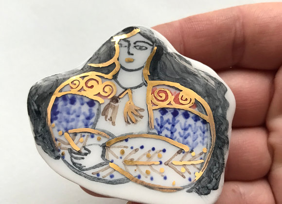 Mandra - brosa ceramica