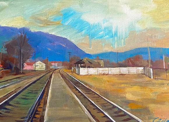Drumuri - pictura Ruslan Cirlan
