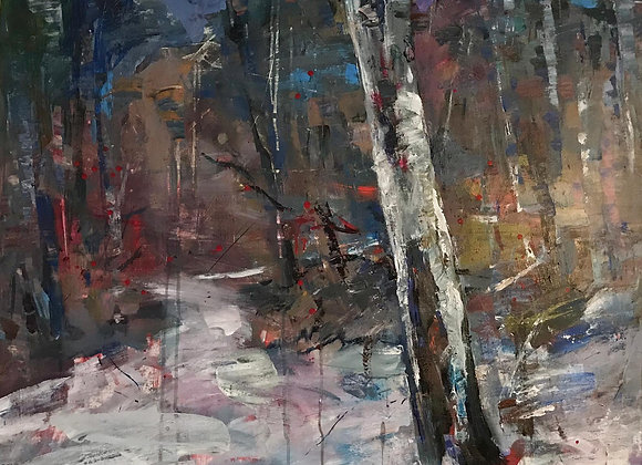 Spiritul padurii - pictura Ruslan Cirlan