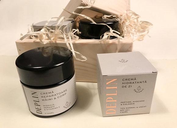 Cutie cadou  de ingrijire DEPLIN (cosmetice artizanale organice)