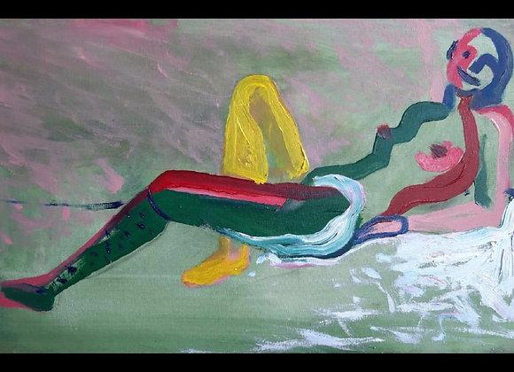 Nimfa - pictura de Madalina Costache