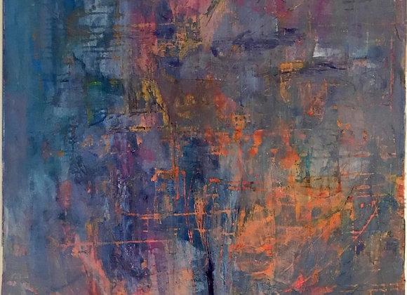 Lumini peste decembrie - pictura Ruslan Cirlan