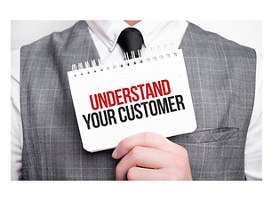 Better understanding of customers to produce tools to enhance their relevance — image of someone with a sign