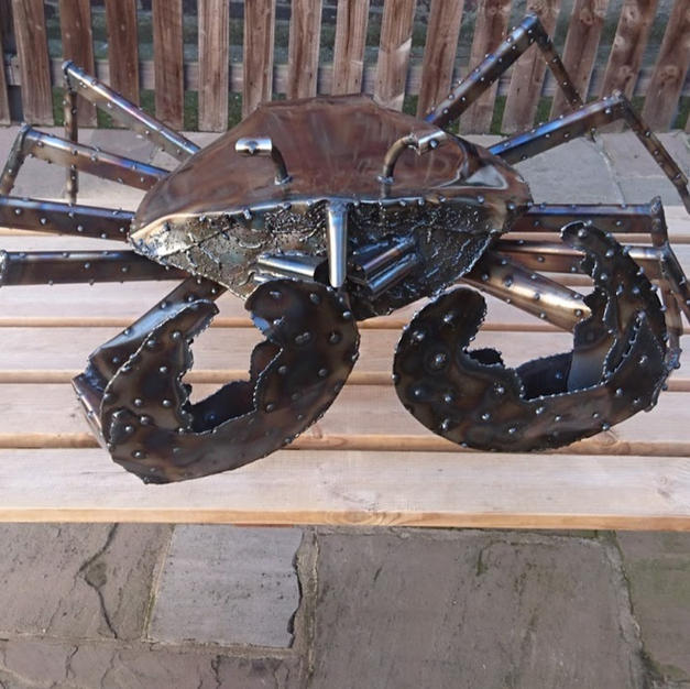 Large steel crab