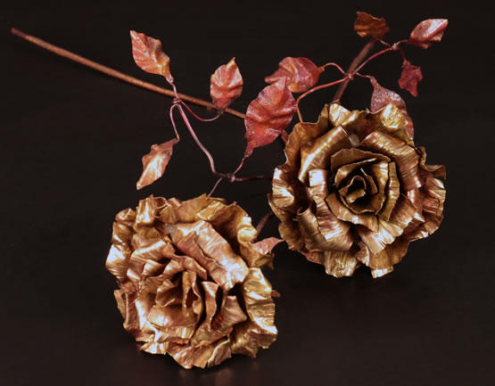 Brass and copper roses