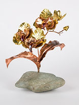Brass and copper orchid