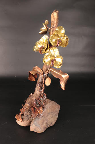 Brass and copper orchids