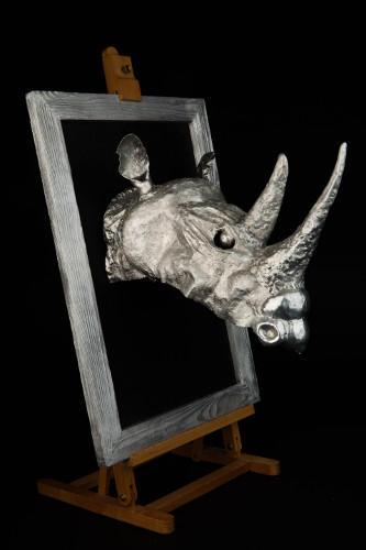 Aluminium Black Rhino head