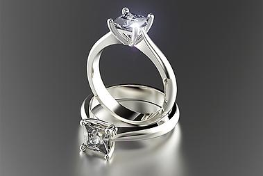 Moissanite Ring Reflected