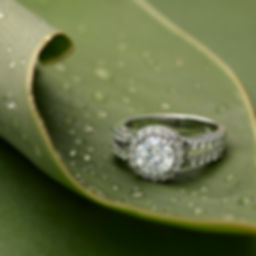 Hi-Resolution Moissanite Ring Close Up