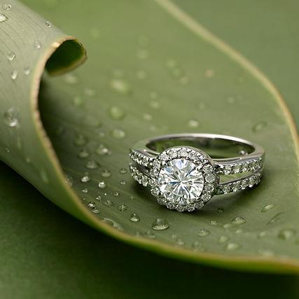 Hi-Resolution Moissanite Ring Close Up