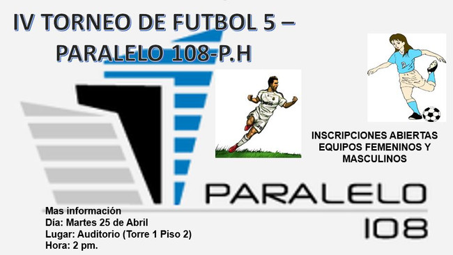 IV TORNEO DE FÚTBOL 5- PARALELO 108- PH