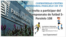 3er Torneo de Fútbol 5 - Paralelo 108