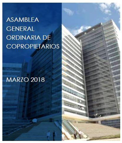 CONVOCATORIA ASAMBLEA GENERAL ORDINARIA 2018
