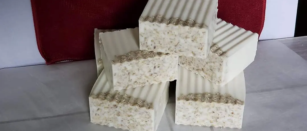 Vanilla Oatmeal Wavy Bar Soap
