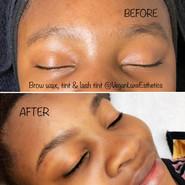 Brow wax, tint and lash tinting service