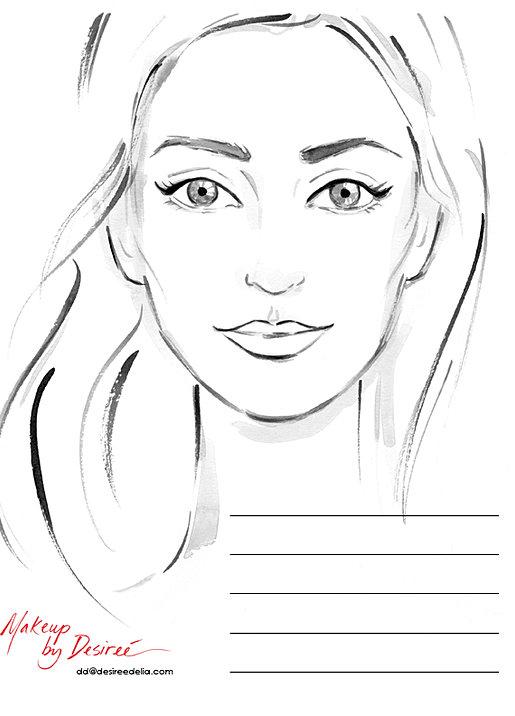 makeup artist bio template - desiree delia makeup artist face charts