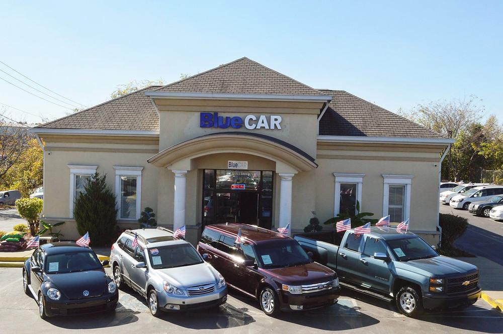 BlueCAR is  located 3737 Nolensville Pk. Nashville, TN