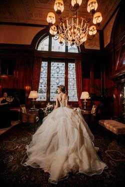 Ballgown in the Benson Lobby