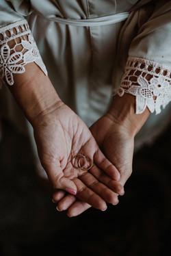 Portland bride holds ring
