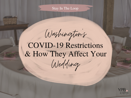 Understanding Washington's COVID-19 Guidelines (and what they mean for your wedding)